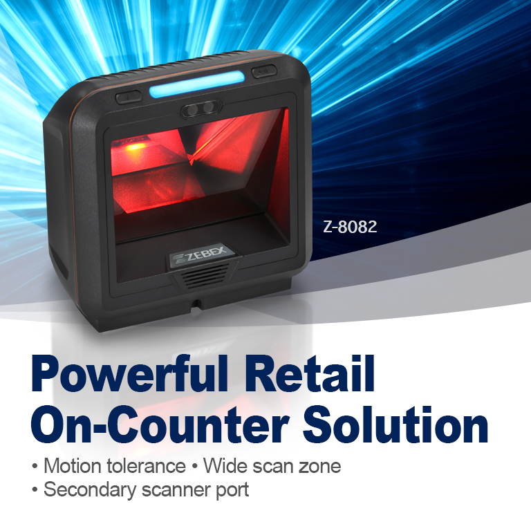 Z-8082,Powerful Retail On-Counter Solution,On-Counter Scanner