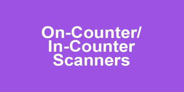 On/ In-Counter Scanners