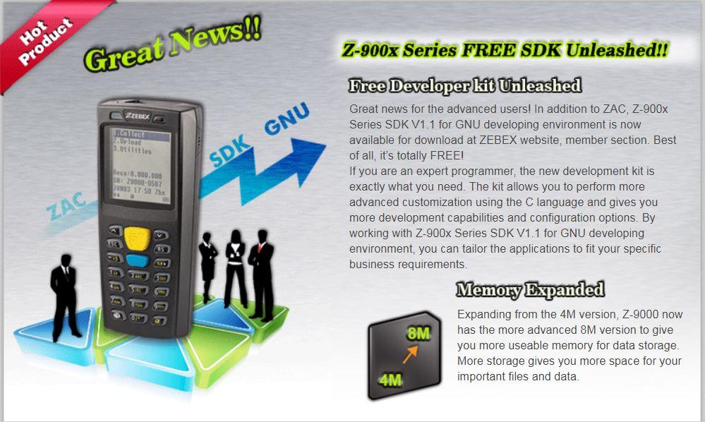 Z-900x seriers】 Free SDK Unleashed - ZEBEX | Leading 2D